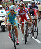 Vinokourov, Paolini and Hansen have survived as far as the last climb, but their liberty is at grave peril now...