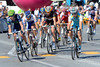 Rui Costa lead an escape of about nine men on the second lap of the Champs Elysees circuit...