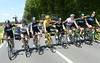 Team Sky pose shoulder-to-shoulder with Wiggins at its heart in Yellow...