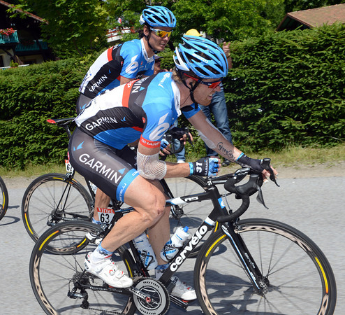 Tyler Farrar is in severe pain after falling twice yesterday and for several days before..