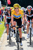 Bradley Wiggins shows himself in his new Yellow Jersey - he's making Popovych and Voigt hurt..!