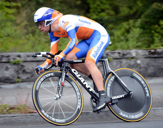 """Michael Matthews time trialled to 12th place, at 19.61"""""""