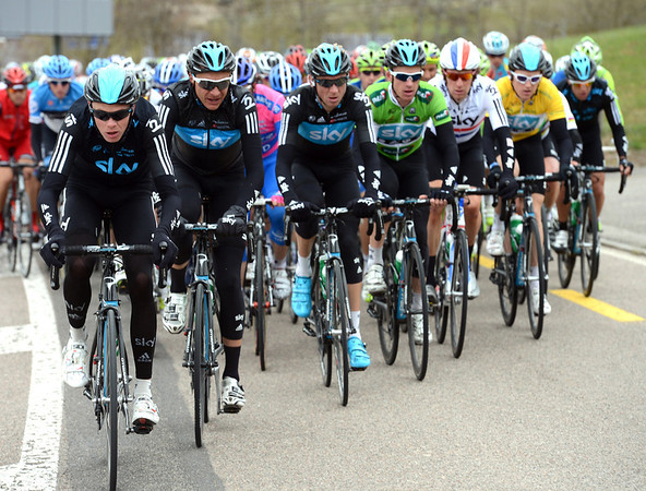 Chris Froome is now leading Sky's chase...