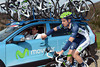 New boy, Juan Jose Cobo, is earning his spurs as a bottle-carrier for Movistar
