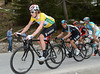 Bradley Wiggins leads his own chase, with Porte and Kreuziger close-by...