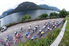 Stage two of the Tour de Suisse kicks off with a nice promenade around part of Lake Maggiore - in Italy..!