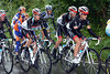 Linus Gerdemann looks tough at the head of a Radio Shack group containing Fuglsang, Schleck and Laurent...
