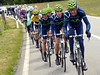 Movistar is having to chase down the Monfort-Albasini escape, making it torturous for the chasing groups behind...