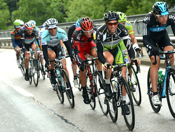 Michele Albasini has got away in a dangerous escape, hence the frantic pace behind...