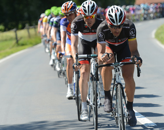 Fabian Cancellara is the 'star chaser for Radio Shack- and the gap has decreased from seven to four minutes now..!