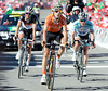 Mikel Nieve beats Leipheimer and Schleck to the line for 2nd-place...