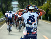 Pengda Jiao fills up with bottles for his Champion Systems' teamates...