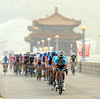 Omega races across the big reservoir road above Beijing, with the gap now down to about two minutes...