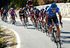 Ryder Hesjedal has caught everyone in front and built a new escape on the long climb...