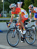 Xu Gang is the Champion of China and wearing the brightest clothing in the peloton here..!