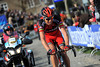 Alessandro Ballan has taken off alone on the final climb of the Kwaremont...