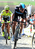 Juan Antonio Flecha is right at the head of the race on the second-ascent of the Paterberg...