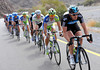 Ian Stannard leads the chase for Team Sky...
