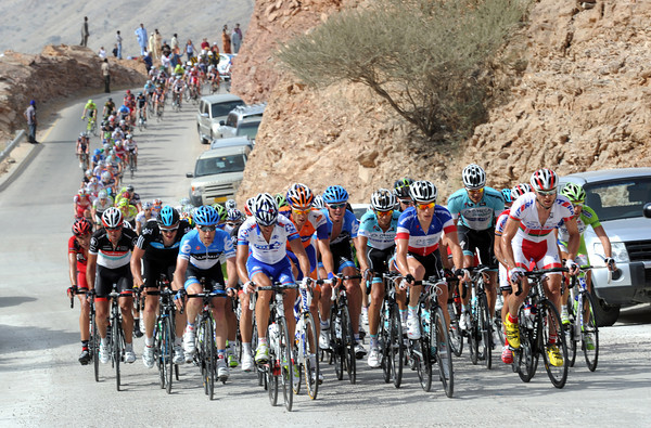 The peloton has shattered on a steep hill in Muscat, but another regroupment is on the cards with 60-kilometres still to go...