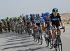 Team Sky has put Christian Knees on the front to wind-up the pace a little...