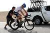 The peloton settles down again - so time for Farrar to make his bike-change...