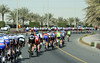 The two main group are about to merge after twenty-five very fast kilometres...