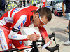 Denis Galymzianov is busy studying the route and making mileage notes - there are no race-radios in this race...