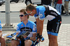 Tyler Farrar and Robbie Hunter are studying their road-book too...