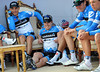 Tyler Farrar ad his Garmin teamates bask in the glory of their great win in Qatar...