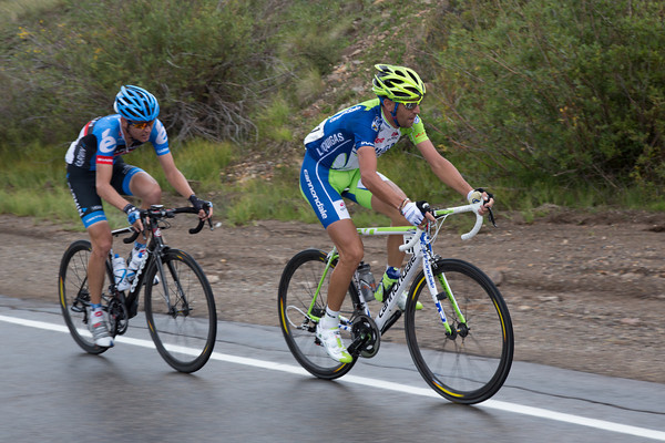 Danielson has lifted the pace again on Lizard Head Pass; Nibali has accellerated and is bringing Stetina along with him.