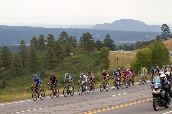Near the first KoM - Joshua Atkins is in the 22 man escape...