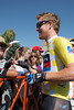 Tyler Farrar looks like he is still celebrating his win from yesterday...