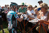 Levi signs autographs for fans; will he attack in the last kilometer as he did last year to take the lead?