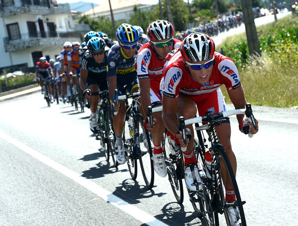 Max Iglinsky is leading a mighty chase for Katusha - but they have a seven-minute gap to close...
