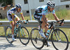 Incredibly, despite the speed, Dario Cataldo and Thomas De Gendt have managed to escape...