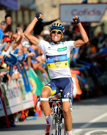 Yes! Alberto Contador wins stage seventeen after one of the most spectacular days the Vuelta has ever seen..!