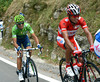 Rodriguez and Valverde have been completely caught out by Contador's attack...