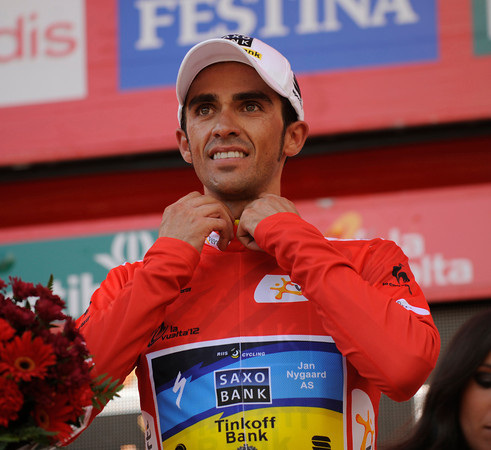 Alberto Contador has become the new race-leader after his extraordinary exploits today - he leads Valverde by almost two-minutes..!