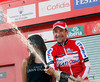 Denis Menchov won stage twenty - he cannnot believe his luck today..!