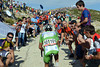 Joachim Rodriguez has attacked from the Contador group and is gaining time on the Bola del Mundo ascent...