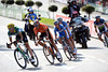 A six man escape is away on the second lap, led by Francesco Aramendia of Caja Rural...