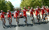 The Cofidis team pose with David Moncoutié, a man who retires after the Vuelta and who has only ever ridden for Cofidis..!
