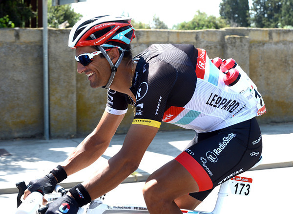 Daniele Bennati is never happier than when he's loaded with bottles...