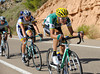 Javier Aramendia is digging deep in the escape - there must be a prize for the most escaped rider in this Vuelta..!