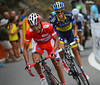 Joachim Rodriguez is on the attack, he has Contador marking him...