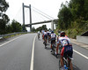 The Ponte de Randes is about to be passed coming from the north - Galicia's coast is quite intricate..!