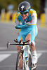Enrico Gasparotto was the worst victim of a crash by Astana, on a slippery corner...