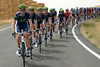 They're laughing now - Movistar sets a decent pace in pursuit, led by Erviti and Lastras...