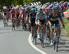 Saxo Bank spark the stage-win fight about three climbs from home...