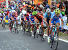 Vincenzi Nibali attacks on the penultimate lap - he's trying to get rid of a few sprinters still hiding in there..!